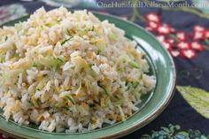 Easy Cheesy Zucchini Rice - One Hundred Dollars a Month