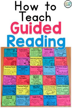 This post will walk you through each step for teaching a guided reading lesson. Also, find a guided reading freebie at the end. From reading strategies to word work activities, learn best practices for teaching children how to read. Guided Reading Activities, Guided Reading Lessons, Guided Reading Groups, Word Work Activities, Reading Resources, Reading Skills, Reading Games, How To Teach Reading, Reading Fluency