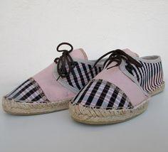 Sneaker lino rosa y cuadros T40 - María Jurado