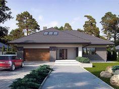 44 แบบบ้านชั้นเดียวหลังใหญ่ เหมาะสำหรับครอบครัวใหญ่ หรูหรา - babbaan.in My House Plans, Modern House Plans, Modern House Design, Home Garden Design, Dream Home Design, Morrocan House, Beautiful House Plans, Modern Bungalow House, Dream House Exterior