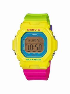 Casio Baby-G Watch Yellow Purple) G Watch, Casio Watch, Hypebeast, Baby G Shock, Atm, High End Watches, Style Retro, Beautiful Watches, Cool Gifts