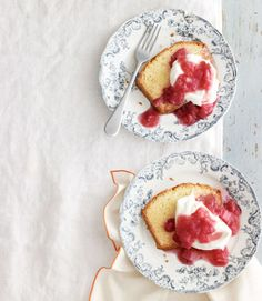 Dense sour-cream and vanilla cake is perfect for spring when served with a sweet-and-tart rhubarb compote.Get the recipe from Delish.