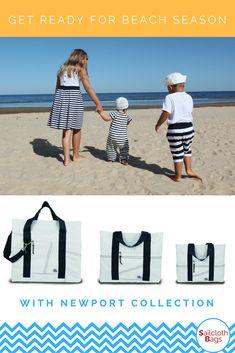 Beach Tote Waterproof Sailcloth Bag Durable Canvas Travel Heavy Duty