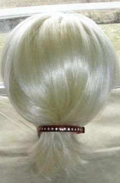 "VTG HAIR CLIP GRIP HEAD PIECE BARRETTE W COMB RHINESTONE TORTOISE COLOR 4"" DIA. 35$"