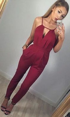 red jumpsuit.// I need this in black