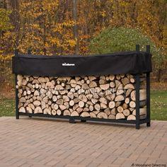 8ft Woodhaven Firewood Rack - Black