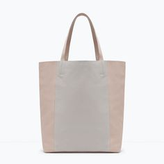 Image 1 of TWO-TONE SHOPPER BAG from Zara