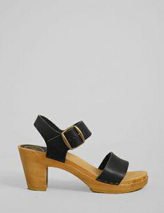 no. 6 two strap high heel clog sandal. #shopbird15 #SS14