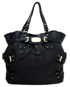 $438.00-$498.00 Michael Kors Gansevoort Leather Tote Bag, Black - Michael Kors Gansevoort black leather tote bag accented with gold-tone signature engraved Michael Kors hardware. All purpose large Gansevoort bag is both fashionable and versatile. Great for daily use. http://www.amazon.com/dp/B005YHP388/?tag=pin0ce-20