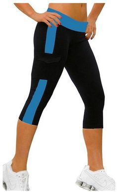Yoga pants, workout clothing, Women's Running Capri Tights YOGA Pants - A Thrifty Mom