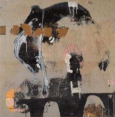 © Philippe Croq, sans titre, technique mixte, papier, bois, 125 x 122 cm, 2008