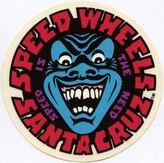 Santa Cruz Speed Wheels Face Sticker