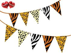 Party Decor Safari Animal King of the Jungle Themed Bunting Banner 15 flags for simply stylish party decoration Jungle Theme Decorations, Jungle Theme Parties, Tropical Party Decorations, Safari Theme Party, Jungle Party, Jungle Safari, Baby Birthday Themes, Jungle Theme Birthday, 5th Birthday