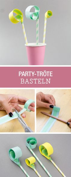 Bereit für die nächste Party: Party-Tröten selbermachen / craft your party decoration and essentials via DaWanda.com