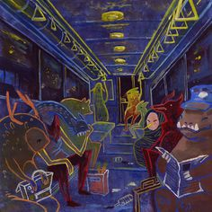 A ride home on the night bus by Michelle Simpson