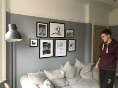 Dulux Warm Pewter Living Room Gallery Wall In 2019 on Best Room Ideas 1920 Living Room Lounge, Living Room Colors, Living Room Paint, Living Room Grey, Living Room Modern, Interior Design Living Room, Grey Bedroom Paint, Small Room Bedroom, Bedroom Decor