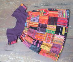 Little Girls Bohemian Style Hmong Dress Patchwork Of Embroidery And Batik by DekDoi on Etsy, $55.00