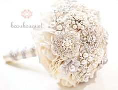 Brooch Bridal  Bouquet Wedding Bouquet  #ecomariage