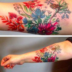 art tattoo Fairytale-Inspired Tattoo Art That Looks Like Water Paintings Pretty Tattoos, Beautiful Tattoos, Cool Tattoos, Tatoos, Body Art Tattoos, Sleeve Tattoos, Tattoo Art, Paint Tattoo, Realism Tattoo