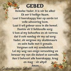 prayer in afrikaans - Yahoo Search Results Yahoo Image Search Results Pray Quotes, Bible Verses Quotes, Afrikaanse Quotes, Bible Love, Message Of Hope, Prayer Verses, Bible Truth, Special Quotes, Faith In God