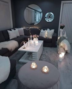 Decorate your living room with these 14 inspiring wall ideas - Block S . - Decorate your living room with these 14 inspiring wall ideas – Block Shades - Living Room Decor Cozy, Living Room Grey, Home Living Room, Living Room Designs, Bedroom Decor, Classy Living Room, Decor Room, Room Decorations, Lights For Living Room