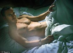 Michael Fassbender, the 34-year-old star of Shame  appears  in the February 2012 issue of W magazine.