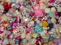 500pc Assorted Size & Color Hearts Stars Flowers by pepperlonely11, $9.98