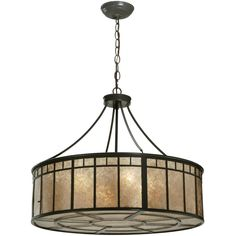 24 Inch W Glendale Mission Inverted Pendant