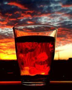 Instagram media by chrisinjapan1 - My cup of tea #japan #nagoya #hongo #sunset #sonnenuntergang #clouds #sky #horizon #beautiful #mesmerizing #colorful #beverage #tea #getraenk #tee #magicmoments #mycupoftea #glas #sunday #sundayevening #reflection #crimsonsky