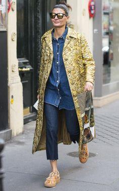 Giovanna Battaglia coat Pinterest: KarinaCamerino WOMEN'S JEANS http://amzn.to/2l7Qdaw