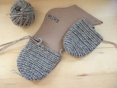 Korgen Stitch: Porta-patet's Socken grau Gr. 45 in 100% wool at ravelry.com