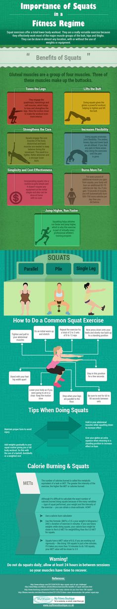 Infographic about squats