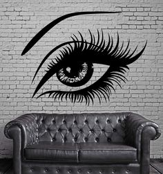 Sexy Beautiful Female Eye Big Eye Lashes Decor Wall Mural Vinyl Art Sticker M526