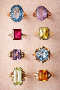 Vintage Cocktail Rings- #divorcerings #bhldn