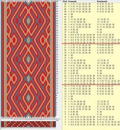 38 tarjetas, 3 colores, repite cada 16 movimientos // sed_661a diseñado en GTT༺❁