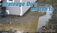 Drainage Do's and Don'ts - waterproofmag.com