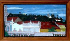 Ivan Marquetti - Quadro óleo sobre Tela Rua prudente de moraes 1987 60x115cm - 14219