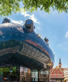 Graz Austria, Palace Hotel, Futuristic Architecture, Poster, City, World, Building, Places, Peter Cook