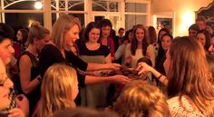 She serves said cookies to everyone. | This Is What Happened At Taylor Swift's 1989 Secret Sessions