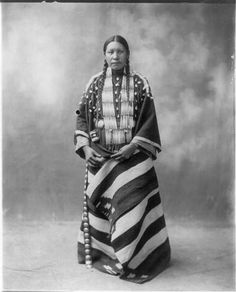 Photo Lucy Red Cloud Sioux Indian c1899 Ceremonial Dress