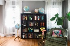 This colorful and eclectic home also serves as a floral studio (so yes, beautiful bouquets abound!).