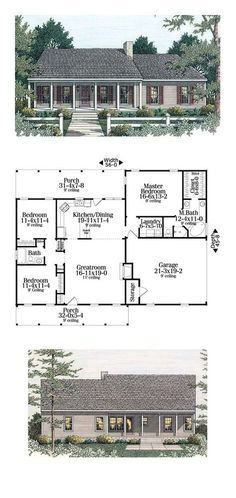 Best Selling House Plan 40026 Total Living Area 1492 sq ft 3 bedrooms and 2 bathrooms Garage House Plans, Ranch House Plans, Best House Plans, Dream House Plans, Small House Plans, House Floor Plans, Dream Houses, Car Garage, 3 Bedroom Home Floor Plans