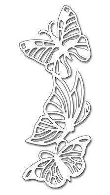 These high quality, thin metal cutting dies are manufactured in the USA using steel and work in most major brands of die cutting machines. You can use these dies to cut paper, fabric, chipboard and much more! Kirigami, Paper Flowers Craft, Flower Crafts, Paper Crafts, Pvc Pipe Crafts, Hanging Letters, Butterfly Drawing, Butterfly Template, Paper Cutting