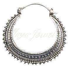 Maya Jewelry Afghan standard earrings in Silver. #silver #accessories #jewelry  www.mayajewelry.com