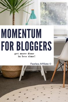 The Power of Momentum in Business by Fearless Affiliate. Use the power of momentum to accomplish more in less time. Build your online business faster by setting realistic goals while increasing productivity. Business Goals. Business Momentum. Blogging Goals. Small Business Goals. How To Build Momentum. Entrepreneur. Blogging. #blogginggoals #buildmomentum #businessmomentum #businessgoals #smallbusiness #blogging #smallbusinessgoals