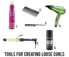a video about how to curl your hair to get loose waves