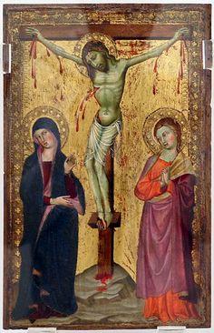 Maestro di Panzano - Crocifissione coi dolenti - 1380-1400 ca. - Pinacoteca di Ravenna