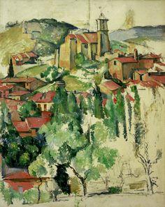 Paul Cu00e9zanne. Villa Gardanne. 1885-1886. (Post-Impresionismo)