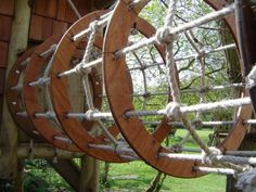 "Our Rope Tunnels Are A Fabulous Feature Of Our Climbing Frames, Made From Wonderfully Soft ""Ghosty Hemp"" Rope And Beautiful Hardwood They Will Add Another Dimension To Your Adventure Frame!"