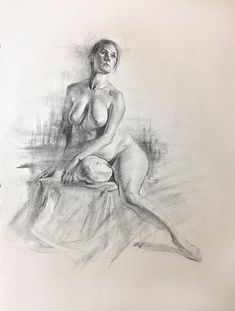 Female nude Charcoal Study